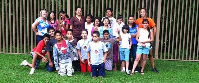 The class in Costa Rica where Lindsay volunteered.
