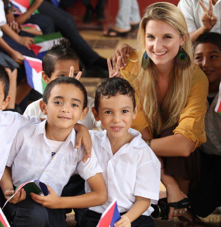 Kat visiting a school in Guancaste, Costa Rica.