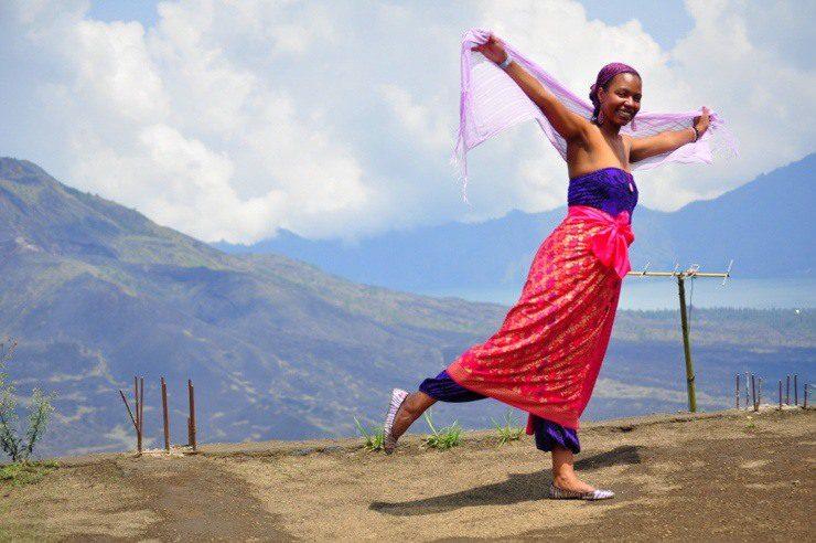 Robyn in front of Mountain Kintamani in Bali, Indonesia. Beautiful!