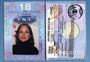 Bonnie's passport photo.