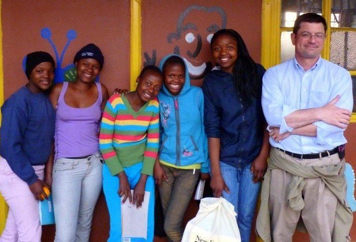John volunteering at the Kliptown Youth Program in Soweto, South Africa.