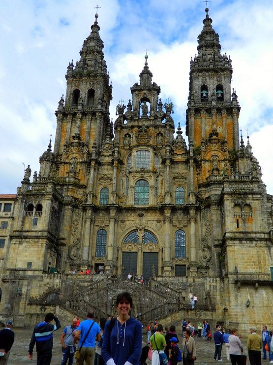 The Cathedral of Santiago de Compostela is the destination of Pilgrims on the Camino de Santiago, a 500 mile walk across Spain. It is the reputed burial-place of St. James the Great, one of the apostles of Jesus Christ.