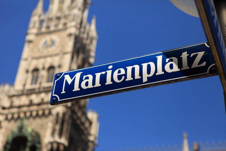 Marienplatz München, Germany.