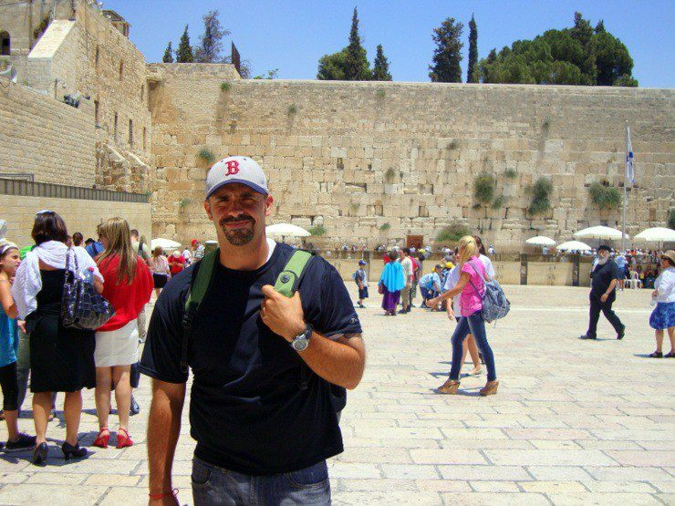 Michael at the Western Wall in Jerusalem, Israel.