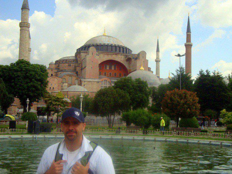 Michael at the Hagia Sophia in Istanbul, Turkey.