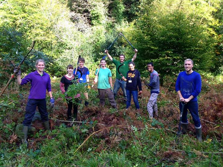 Voluntary conservation work at the Lost Gardens of Heligan in Cornwall.