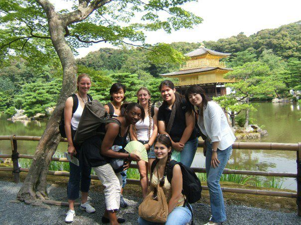 Amanda's first internship abroad was in Japan 2005. This pic is with some friends in Kyoto at the Kinkaku-ji Temple.