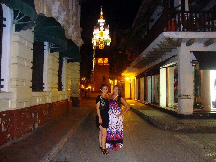 Strolling through the streets of Cartagena, Colombia.