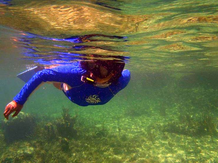 Snorkeling: One of Clarissa's favorite pastimes in The Bahamas.