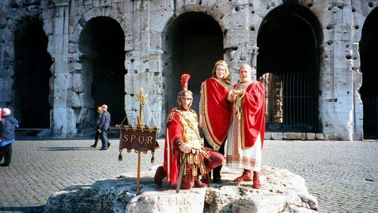 Rome, Italy: For a small fee and with a quick change of clothes, Karen become emperor of Rome for a day.