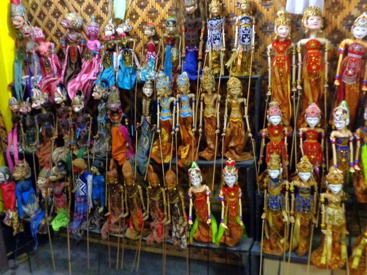 Yogyakarta, Indonesia: It is always so hard for Karen to choose new puppets for her always growing collection. She knows the word for puppet in many languages!