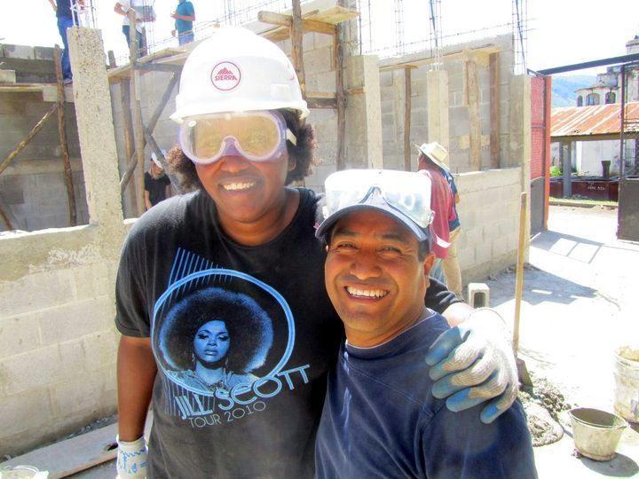 Reagan with Aurelio Hernandez, in country director of Global Visionaries. They were building a school in Segunda Cruz, Guatemala.