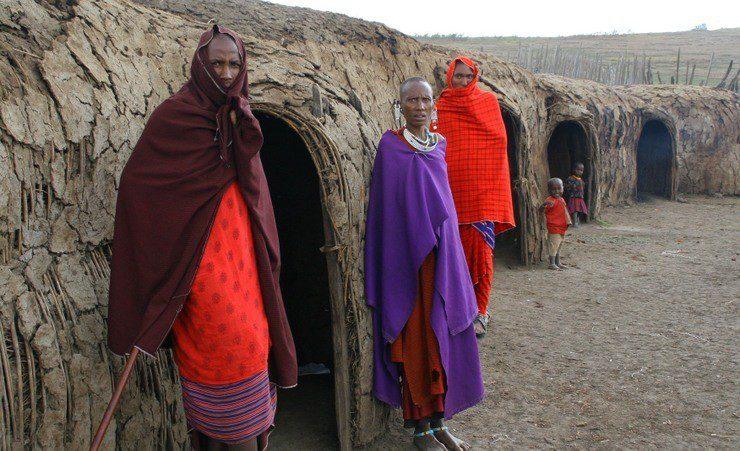 A multi-generational Maasai village in Eastern Africa.