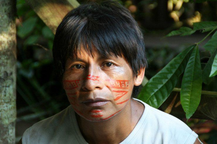 This Shuar man is one of the leaders in a remote village called Miazol, located in the eastern Ecuadorian Amazon.