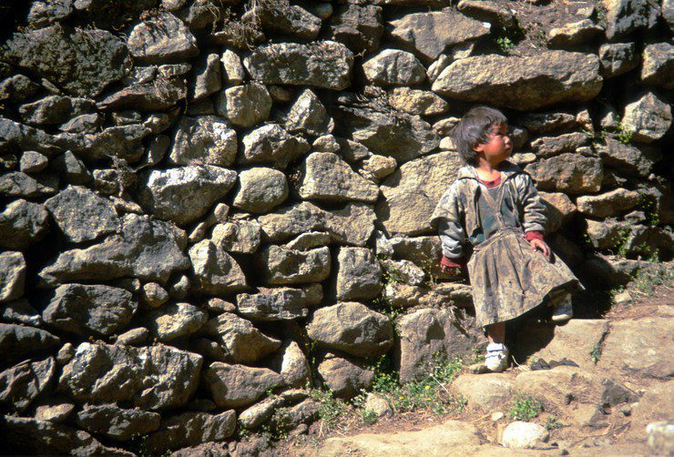 This young girl lives in Nepal's Khumbu region at 13,000 feet near Tengboche.