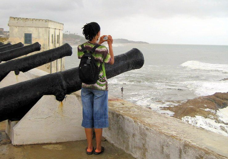 """Cape Coast, Ghana slave castle at the """"Point of No Return."""""""
