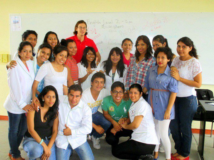 Phil with his students in Oaxaca, Mexico.