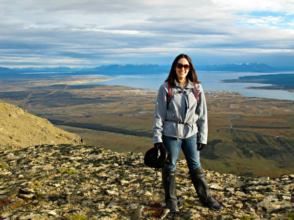 Jackie horseback riding in the mountains around Puerto Natales, Chile (near Torres del Paine National Park), Patagonia!
