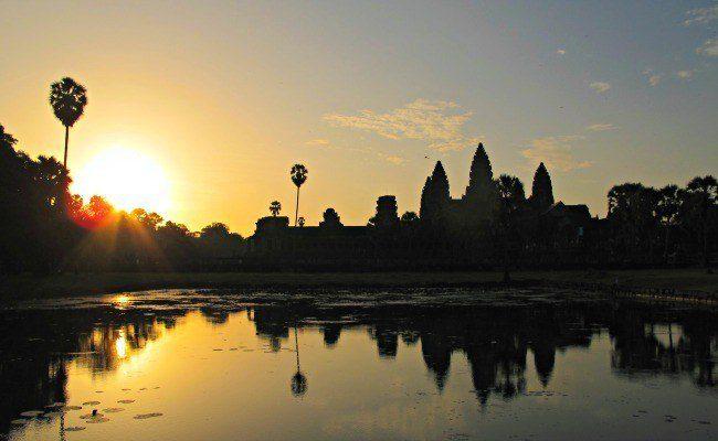 Sunrise over Angkor Wat, Cambodia.