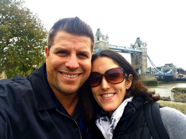 Pete and Jackie in a London selfie.