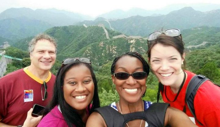 Candace with her colleagues visiting the Badaling Pass of the Great Wall of China. She couldn't believe that she was there!