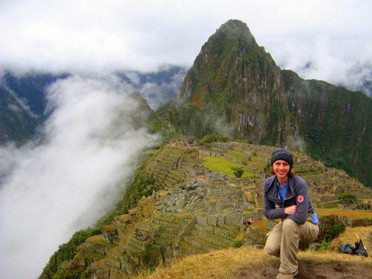 Kim at Machu Picchu in Peru.