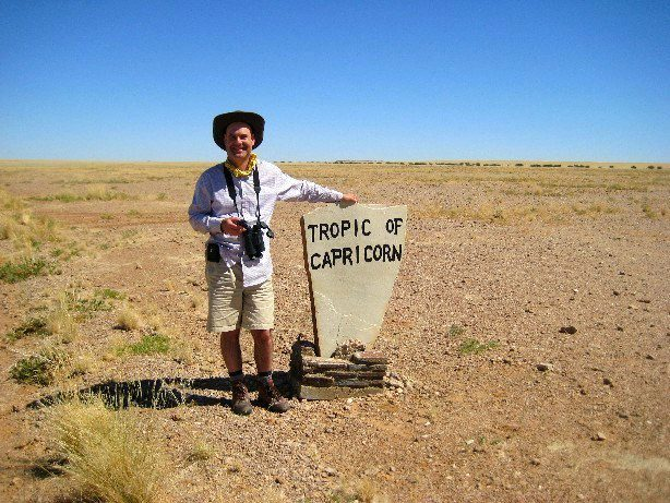 At the Tropic of Capricorn.