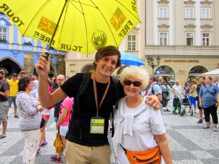 Marilyn with her tour guide in Prague.