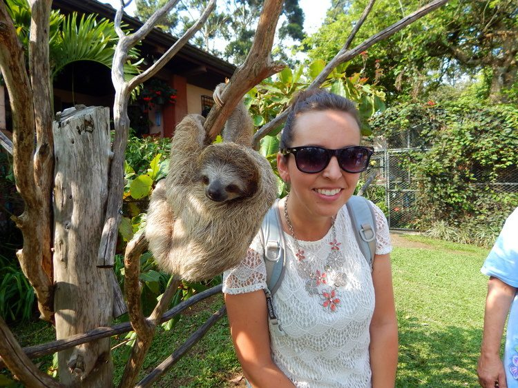 Michelle and her new best friend during her Masters degree study-abroad program in Heredia, Costa Rica.