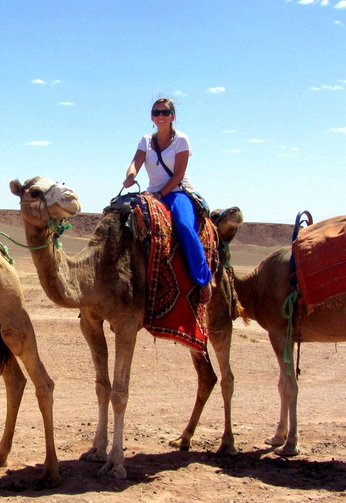 A camel ride to the kasbah of Ait Ben Haddou outside of Marrakech, Morocco.