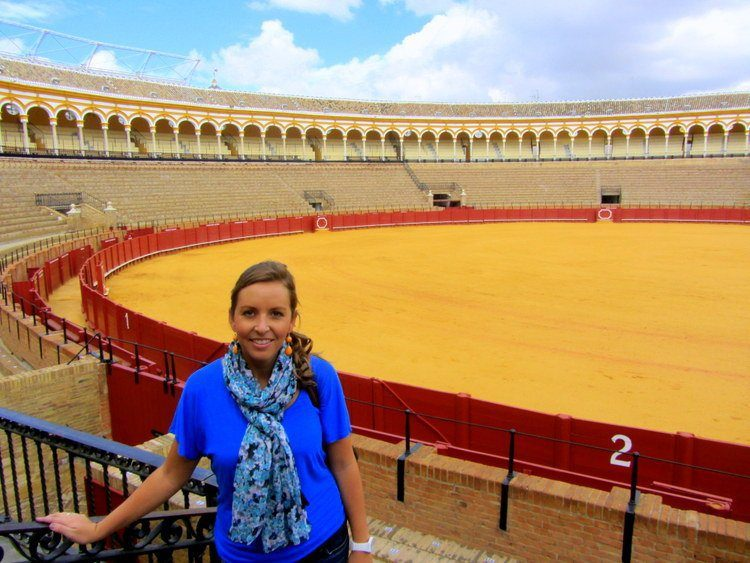 Visiting the Plaza de Toros in Seville, Spain while living in Valencia, Spain.