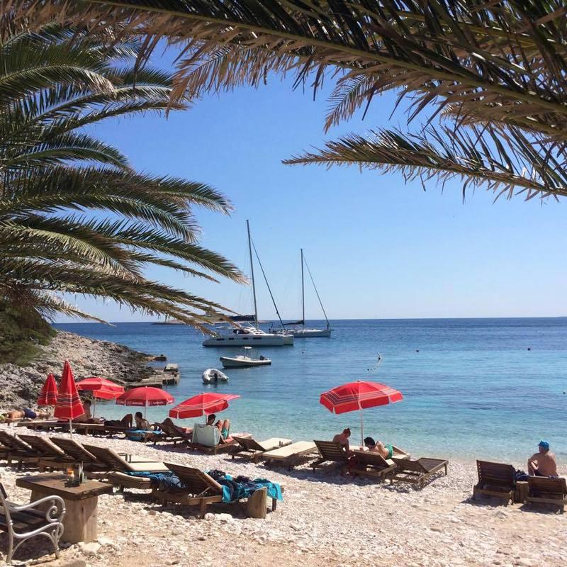 A tranquil beach near Hvar.