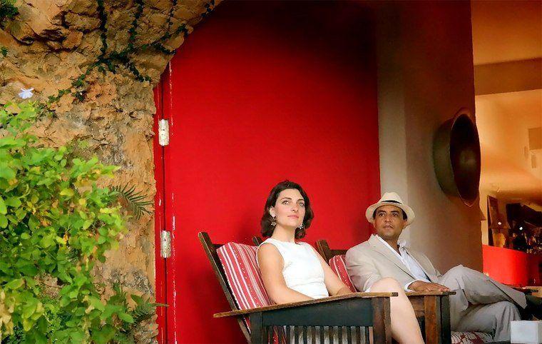 At Santa Teresa Luxury Hotel for a video.