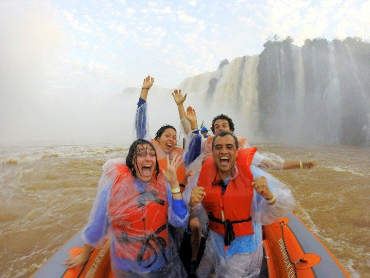 At Iguassu Falls in Brazil with the See You In Brazil team!