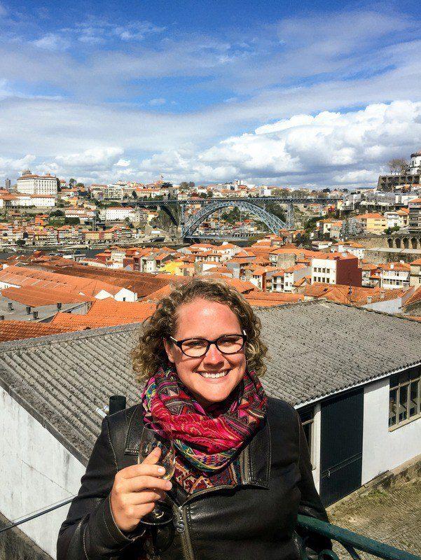 Happy in Porto, Portugal.