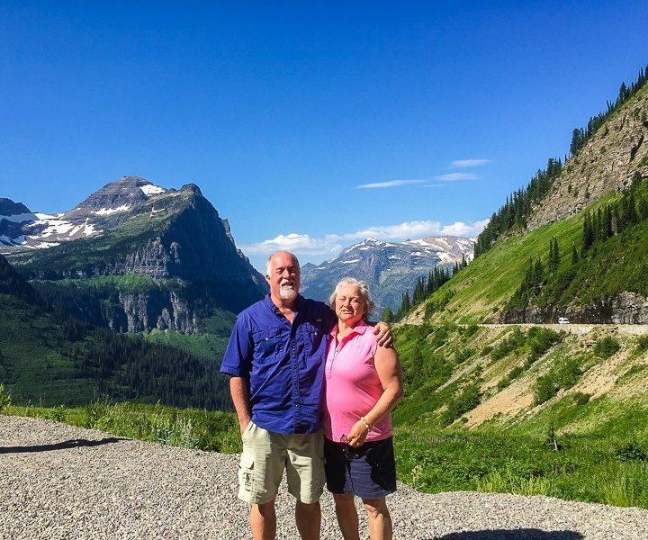 Road tripping through Glacier National Park, Montana.