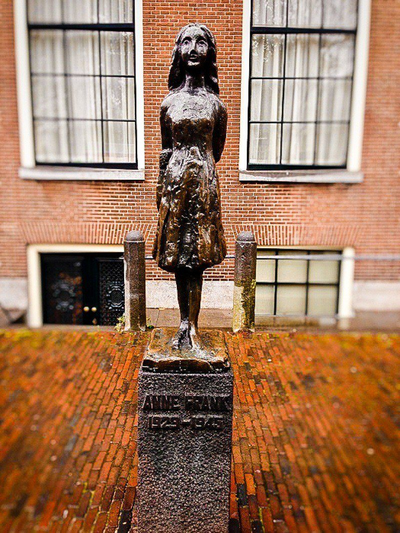 The Anne Frank statue in the Netherlands.