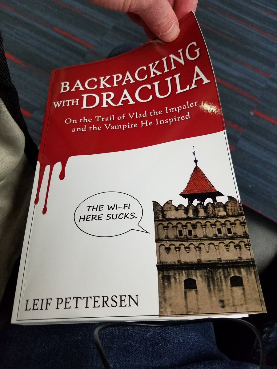 """Leif's hot new book, """"Backpacking With Dracula."""""""
