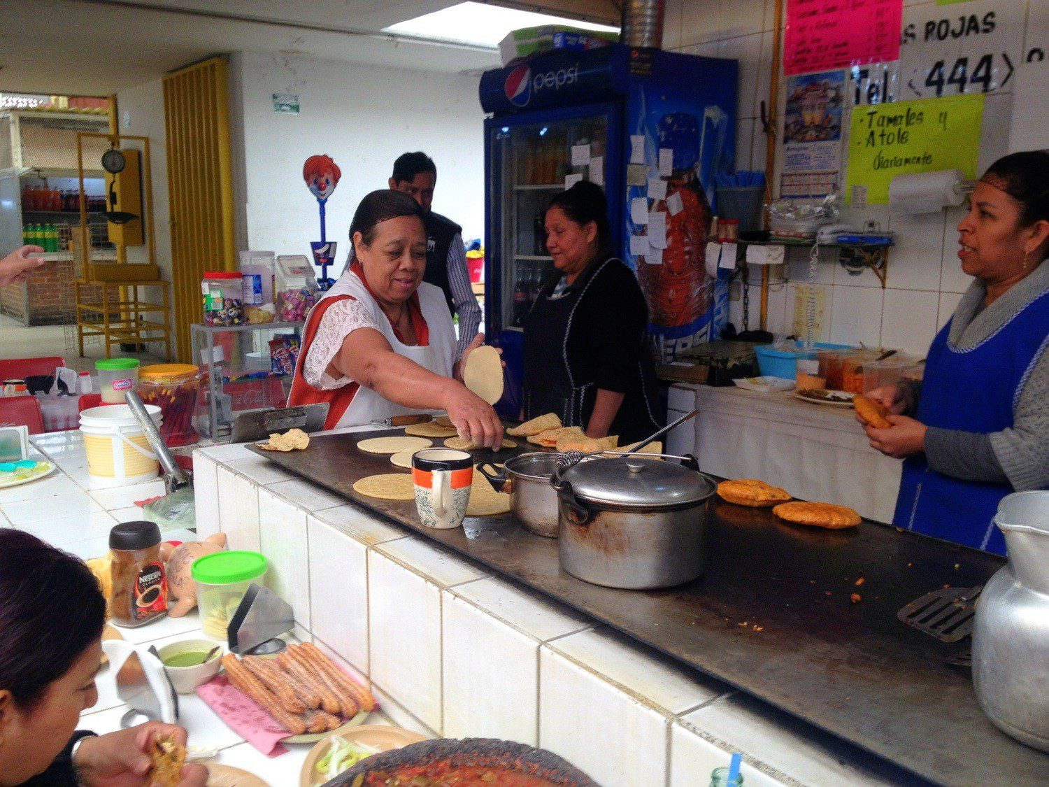 In Mexico, Beth eats at small, local places where she gets to know the owners and practice her Spanish.