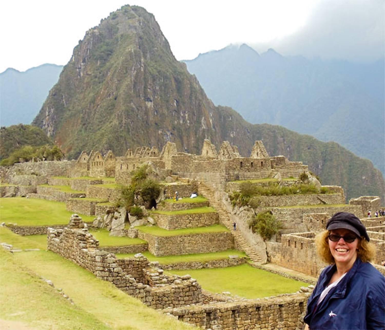 The awesome view at Macchu Pichu in Peru.