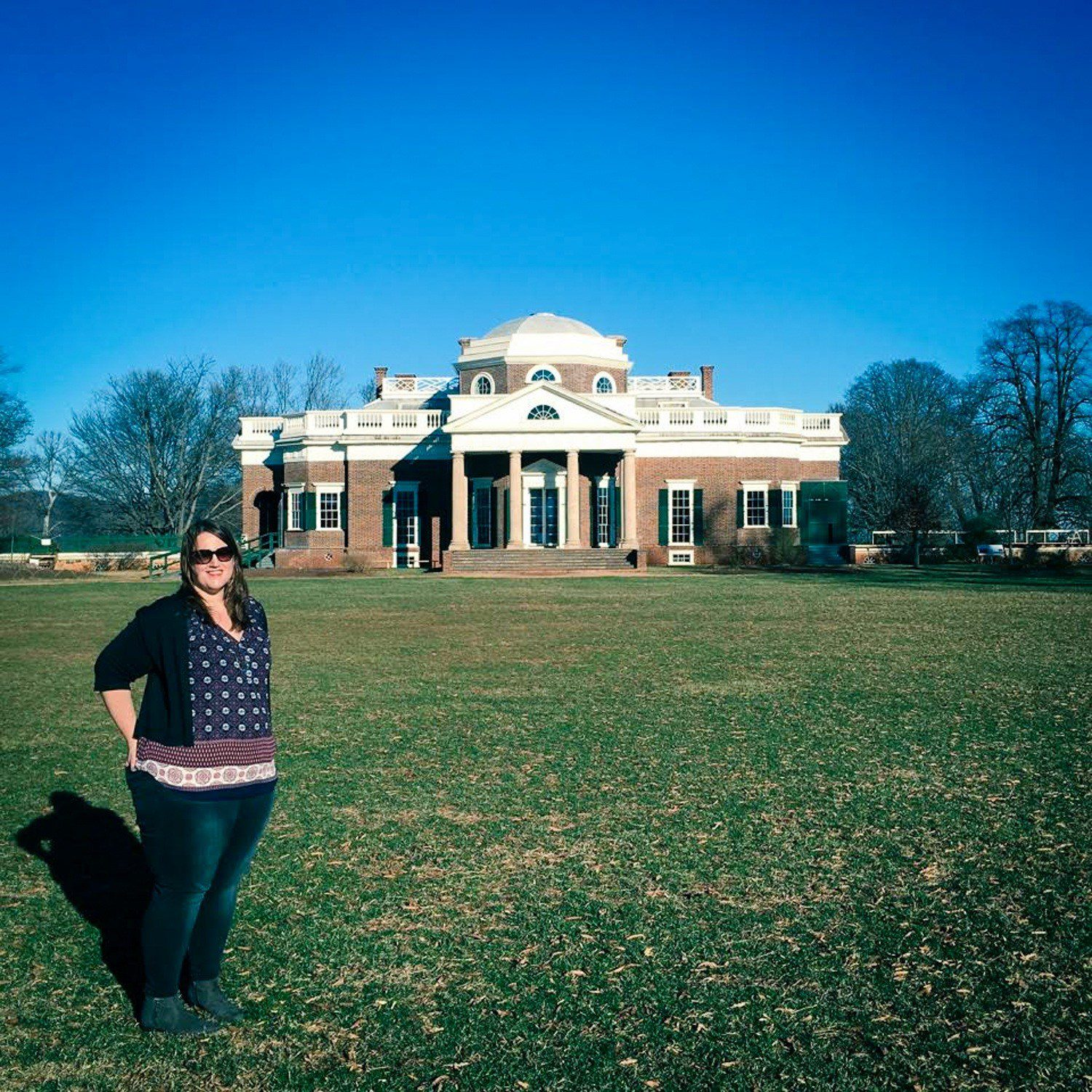 Stephanie (History Fangirl) at Thomas Jefferson's Monticello.