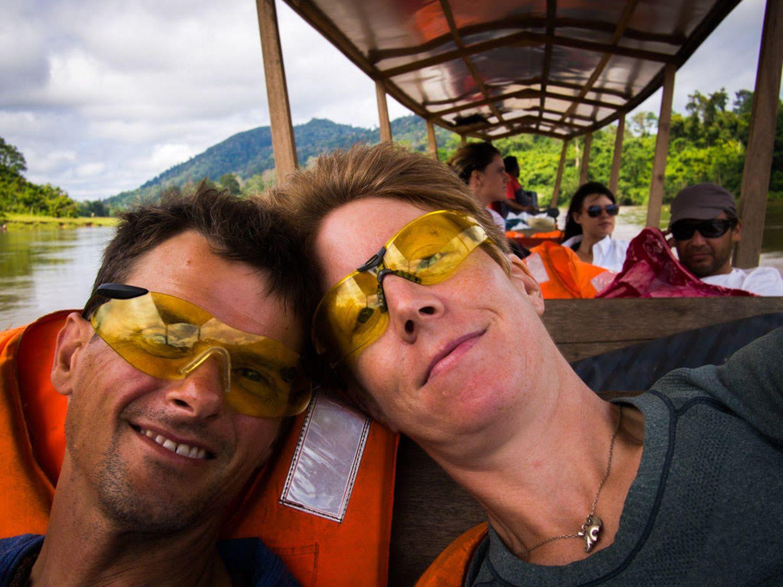 Taking the slow boat to Taman Negara in Malaysia.