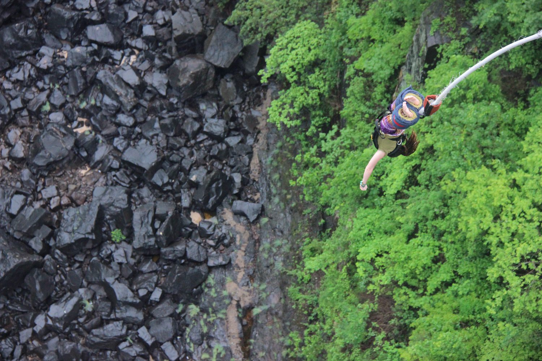 Bungee Jumping at Victoria Falls, Zambia!