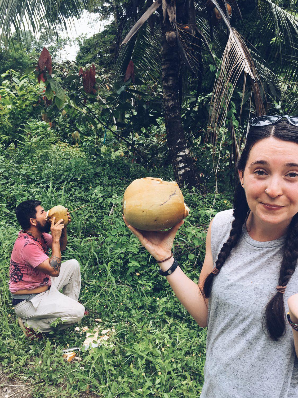 Coconut fun at Kekoldi Reserve in Costa Rica.
