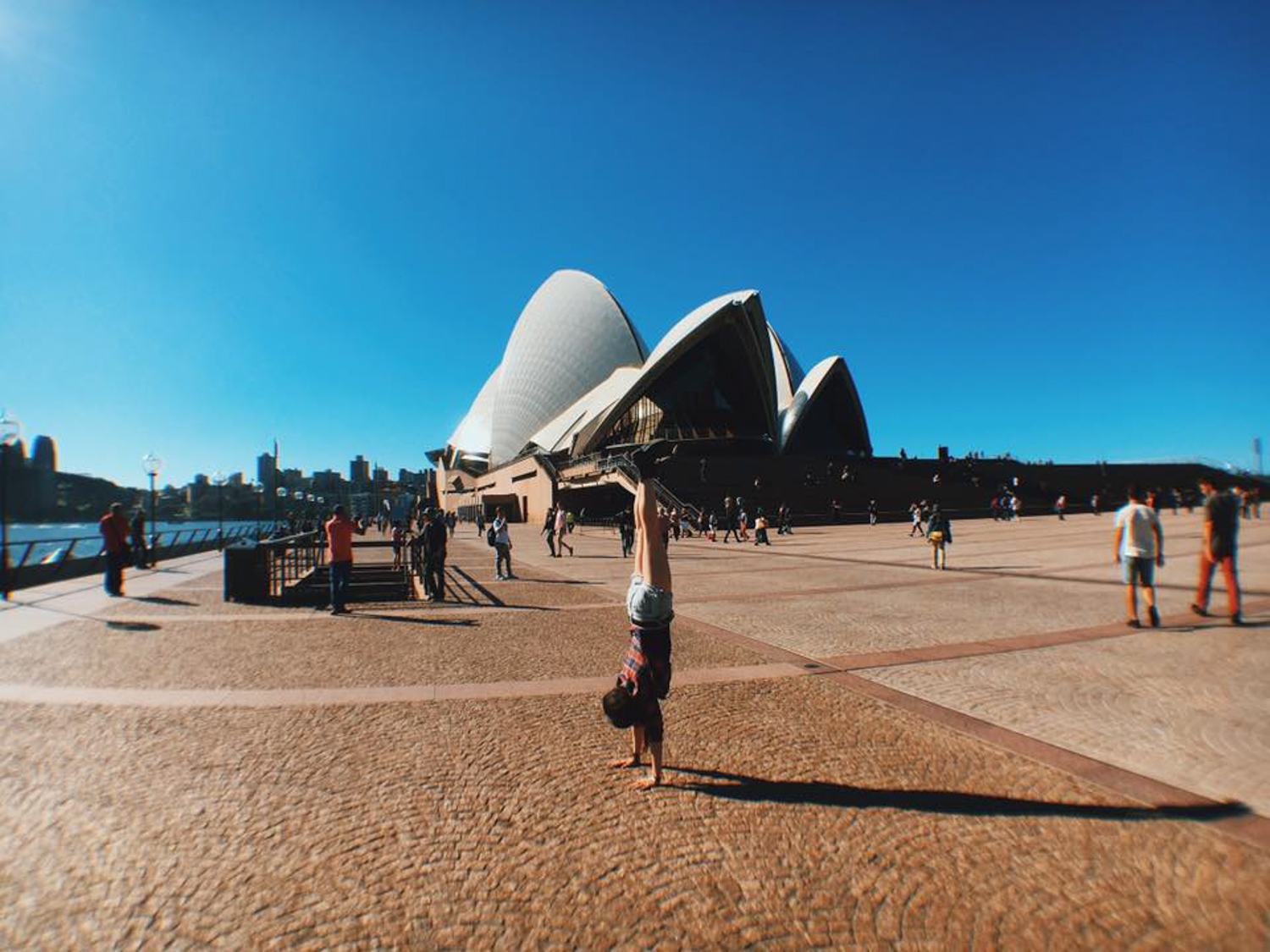 Handstands at the Sydney Opera House in Australia