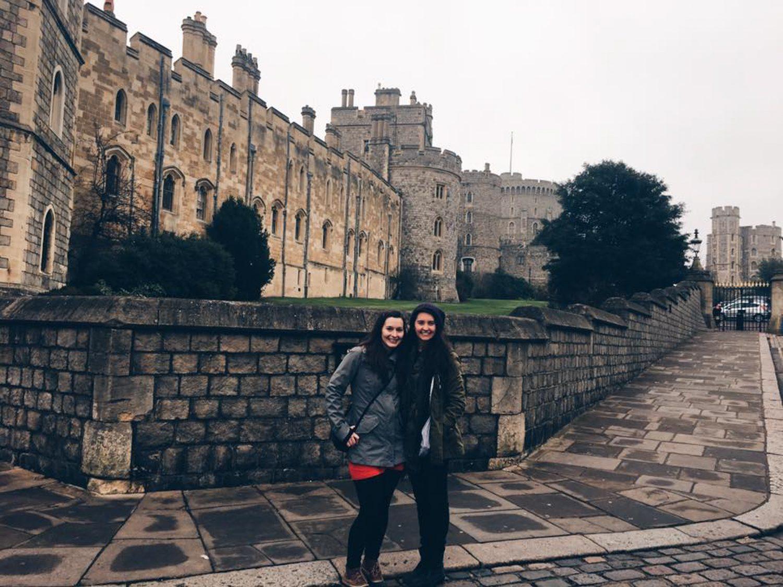 At Windsor Castle, visiting another VIPKID teacher.