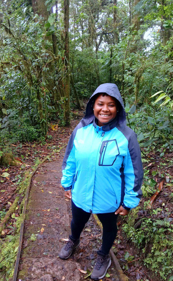 Steph, delighted to be in the cloud forest!