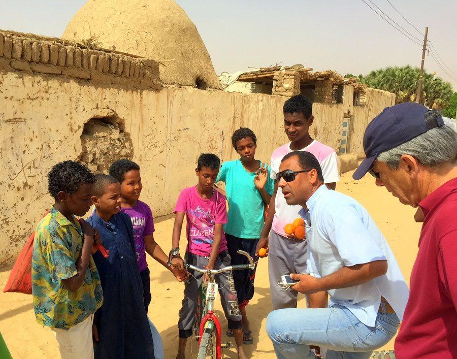 Children Yves met in Egypt.