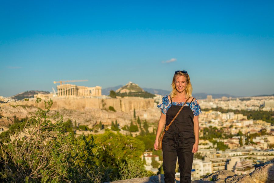 Exploring ancient sites in Athens, Greece.