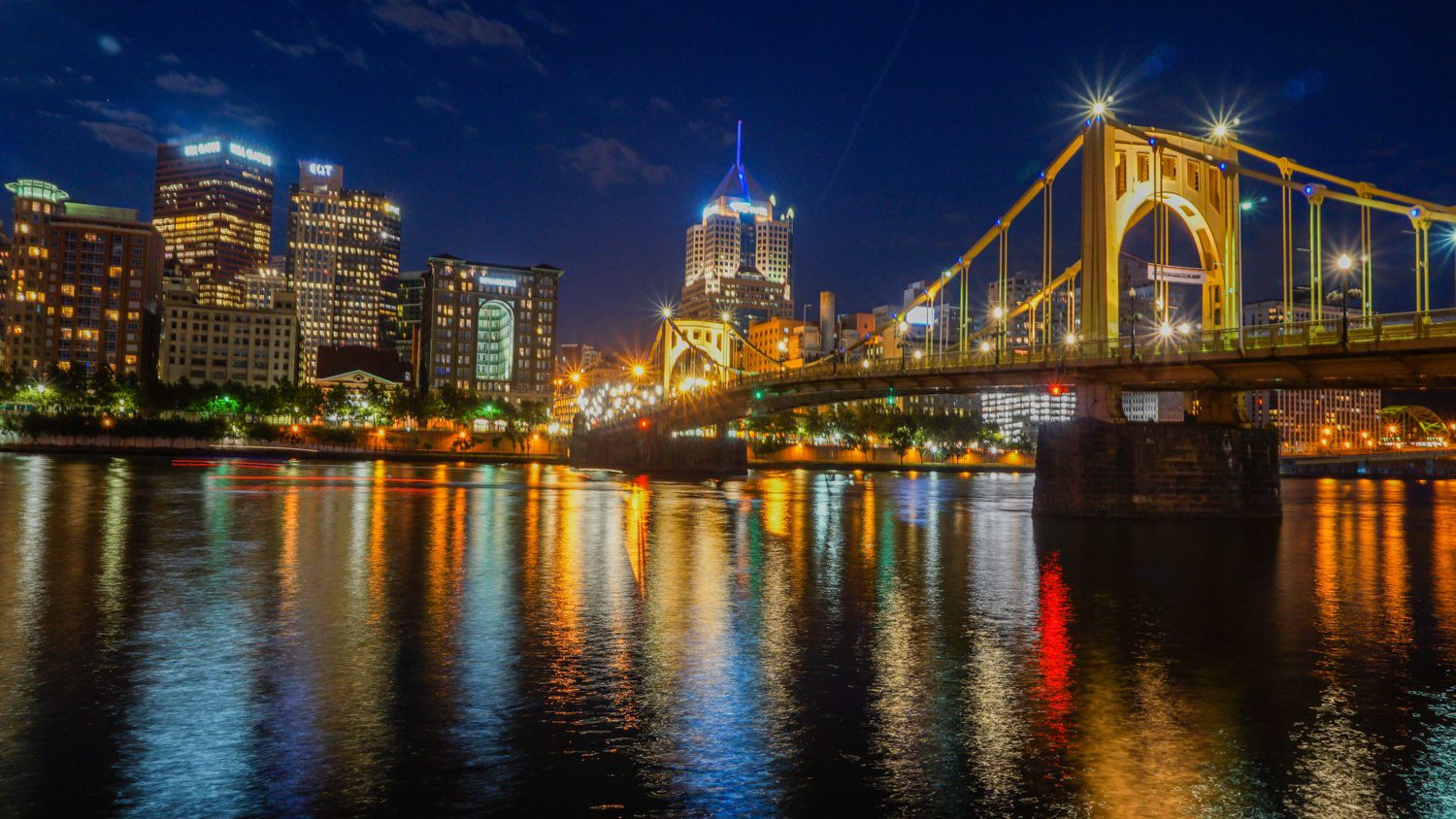 """Teaching others about your city is a beautiful kind of education! For Pittsburgh, PA, """"Discover the Burgh"""" has become a great resource for those looking to visit Pittsburgh, as well as locals looking for the best things to do around the city. Pictured: Pittsburgh from the North Shore River Trail."""